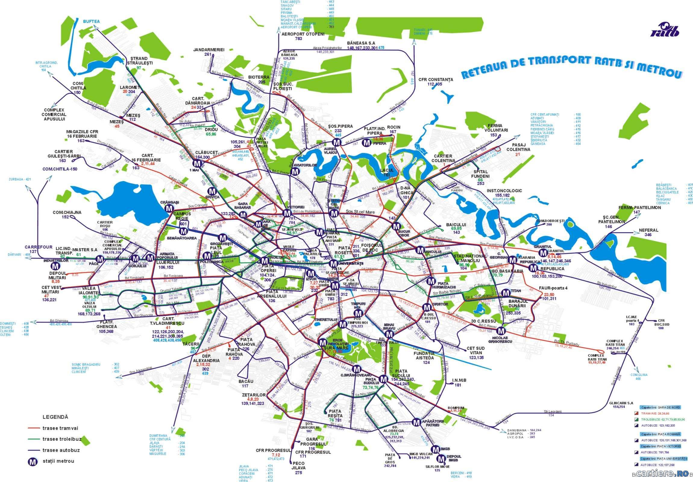 harta rutiera bucuresti Harta RATB Bucuresti, Harta RATB a Bucurestiului, Harti Online  harta rutiera bucuresti